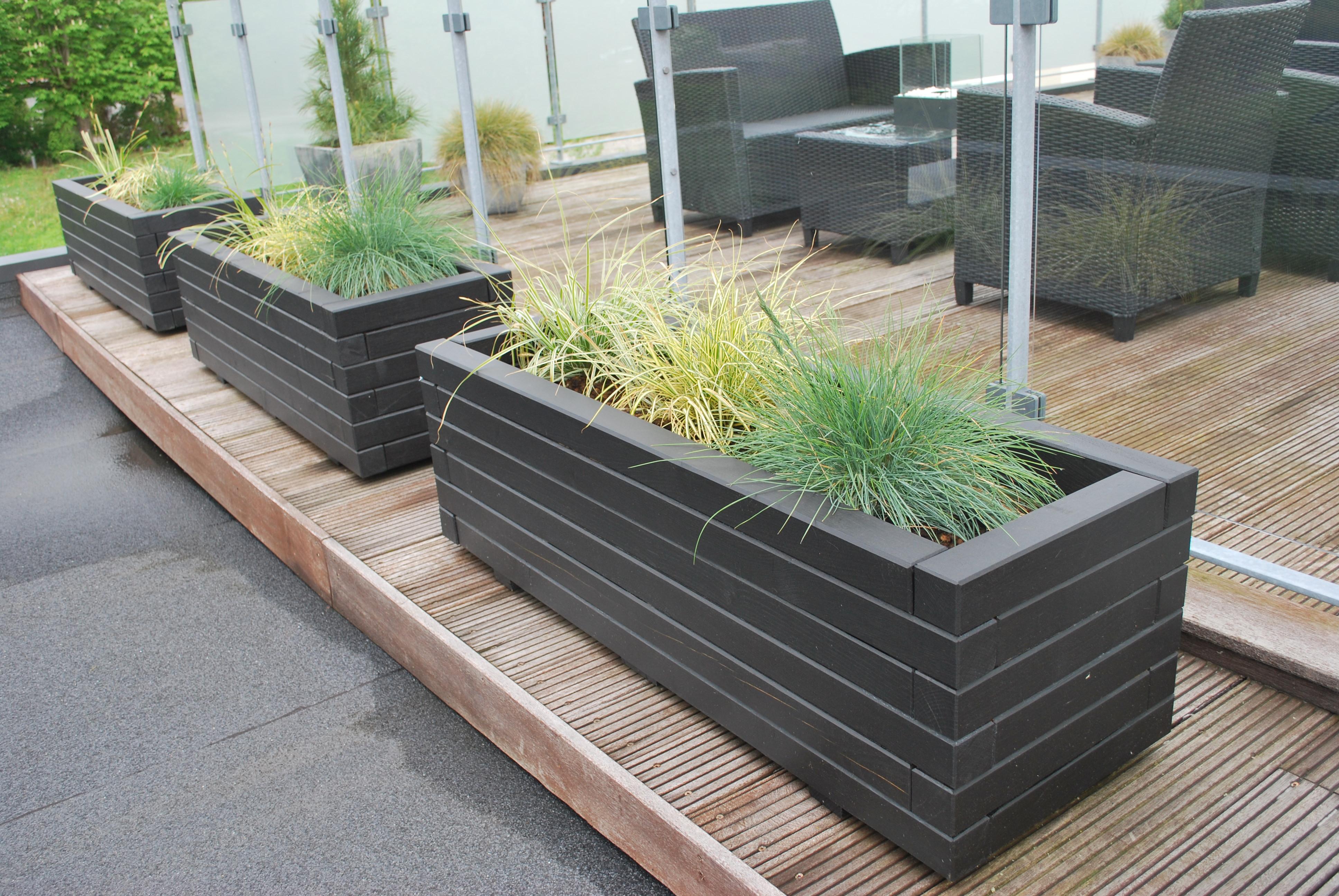 Plantekasser til terrasse – Pileflethegn jem og fix
